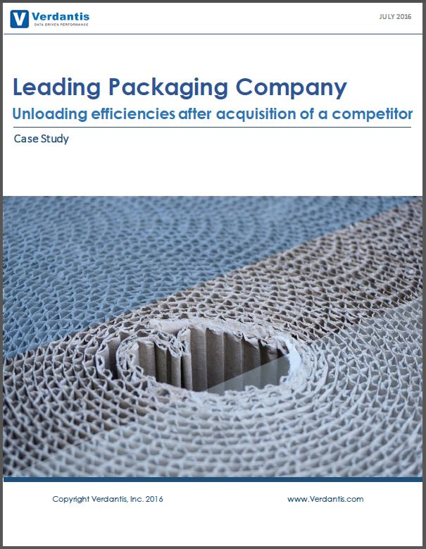 Leading Packaging Company Unloading efficiencies after acquisition of a competitor